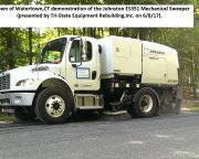 Town of Watertown,CT 351 Mechanical Sweeper demonstration